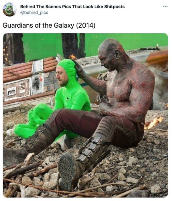 Behind-The-Scenes Photos Of Popular Movies (32 pics)