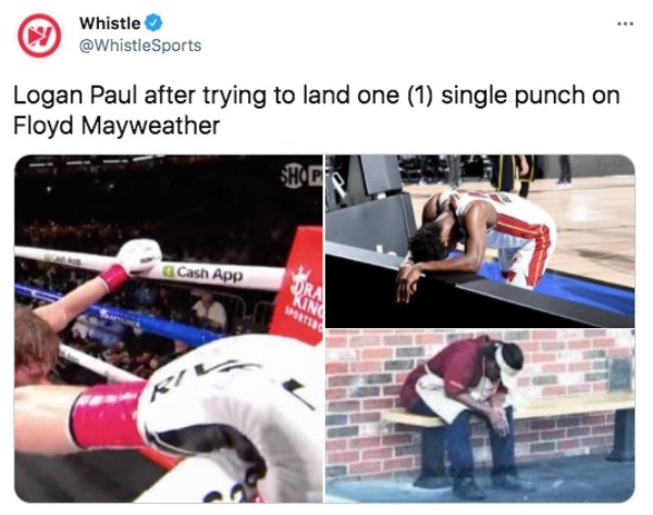 Logan Paul Vs. Floyd Mayweather Fight Memes And Tweets (25 pics)