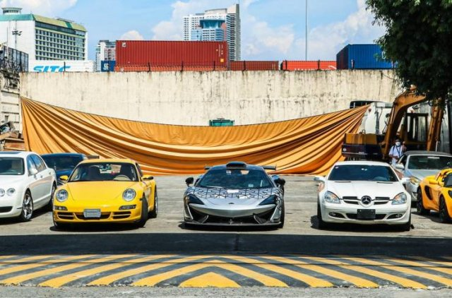 Smuggled Luxury Cars Were Publicly Destroyed By Philippines Government (15 pics)