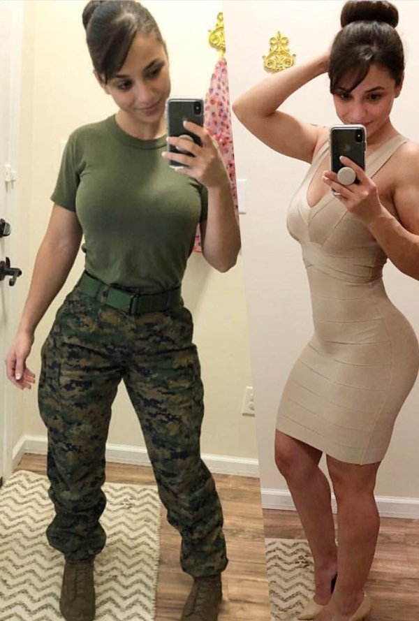Girls With And Without Uniforms (45 pics)