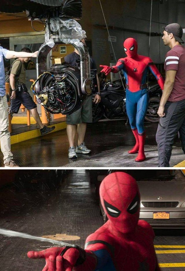 Behind The Scenes Photos Of Famous Movies (18 pics)