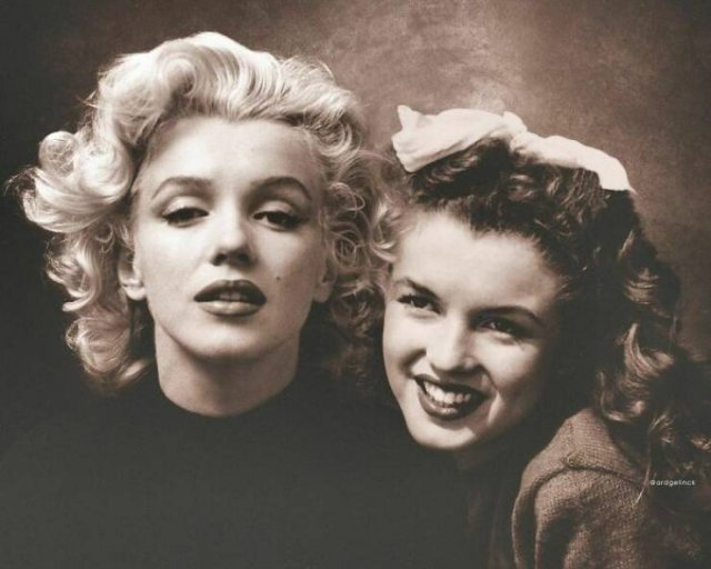 Celebrities With Their Younger Selves (28 pics)