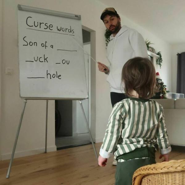 Husband Trolls His Wife By 'Ok' Photos Of His Son (30 pics)