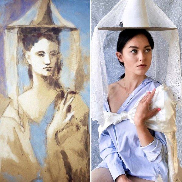 This Woman Recreates Famous Artworks (30 pics)