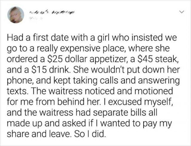 Worst Dates Stories (19 pics)