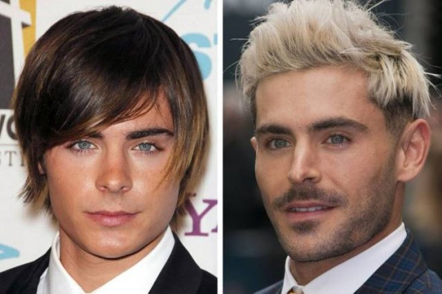 Male Celebrities: Then And Now (14 pics)