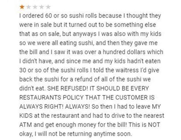 Weird Complaints Of Restaurant Visitors (17 pics)