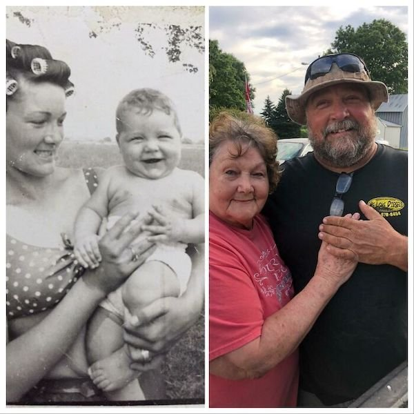 Family Photo Recreations (28 pics)