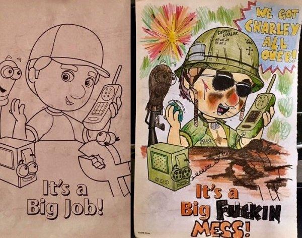 People Improve Coloring Books (30 pics)