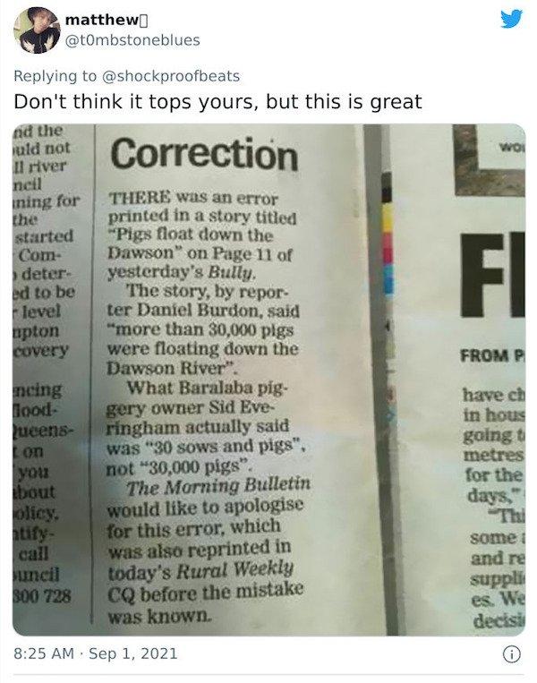 Insane Newspaper Corrections (25 pics)