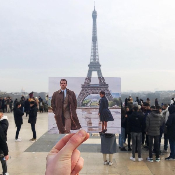 Film Frames Matched With Their Real Locations (35 pics)