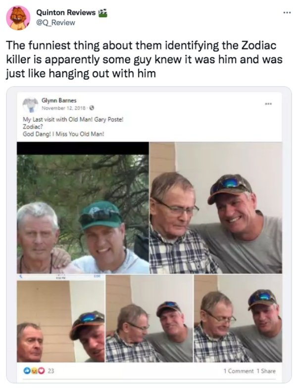 'Zodiac' Killer Being Identified Humor (27 pics)