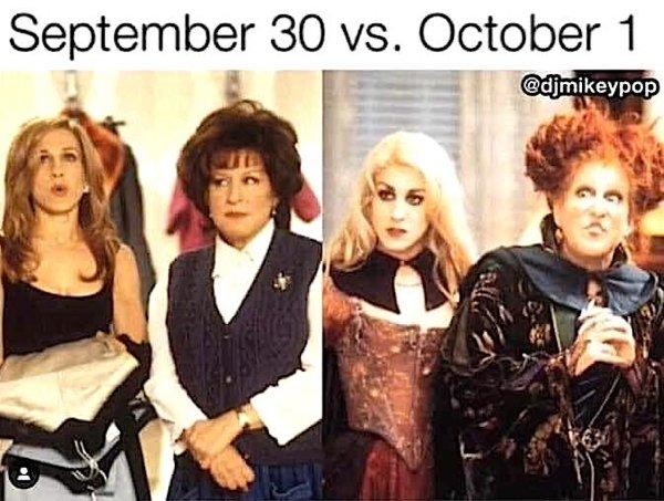 September 30th Vs. October 1st (21 pics)