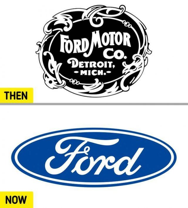 Popular Brand Logos: 50 Years Ago And Now (16 pics)