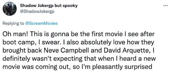Scream Movie Trailer Tweets (26 pics)