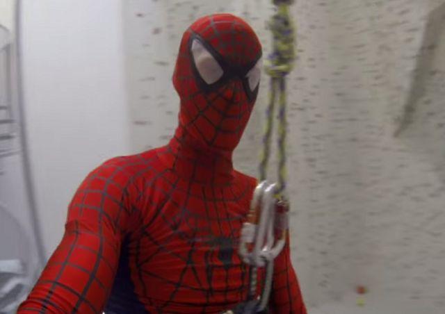 Spiderman Goes Rock  Climbing