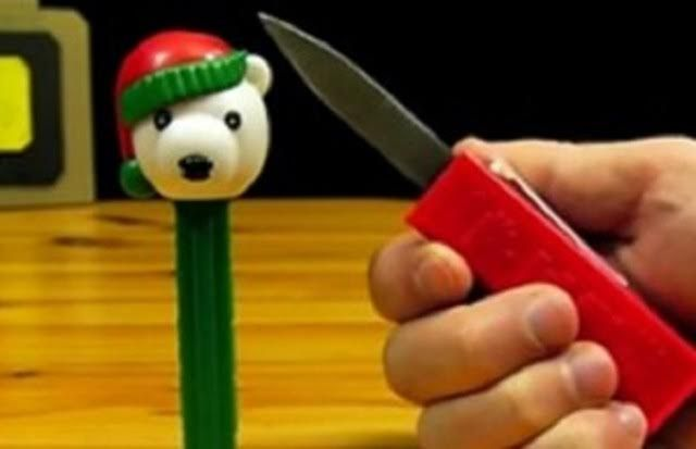 Turning A Candy Dispenser Into A Ballistic Knife