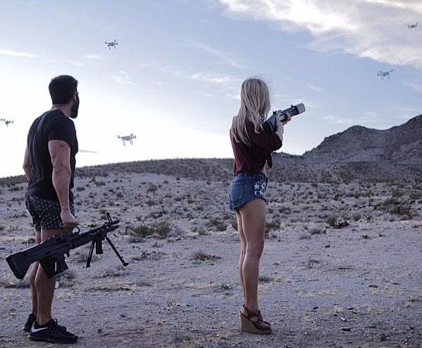 Bilzerian Is Back Blowing Drones Up With Babes (4 pics)