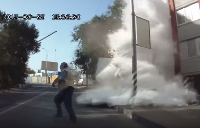 This Truck Crashed And Sent Flour Flying EVERYWHERE