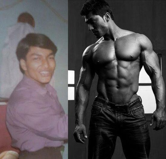 This Young Indian Dude Went From Scrawny To BEAST (10 pics)