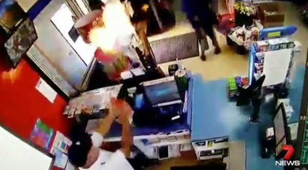 Clever Shopkeeper Fights Off Robbers With Homemade Flamethrower