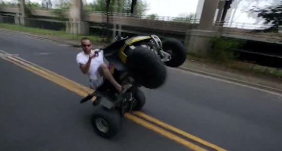 Crazy Quad Bike Accident