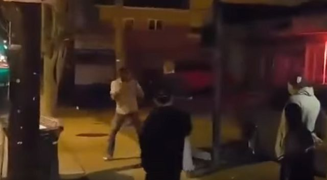 M.M.A Fighter Vs Drunk Guy. Guess Who Walks Away With The 'W'