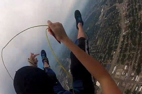 Crazy Footage of Parachute Failing To Open