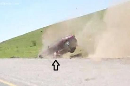 Crazy Footage Of Man Ejected From Vehicle