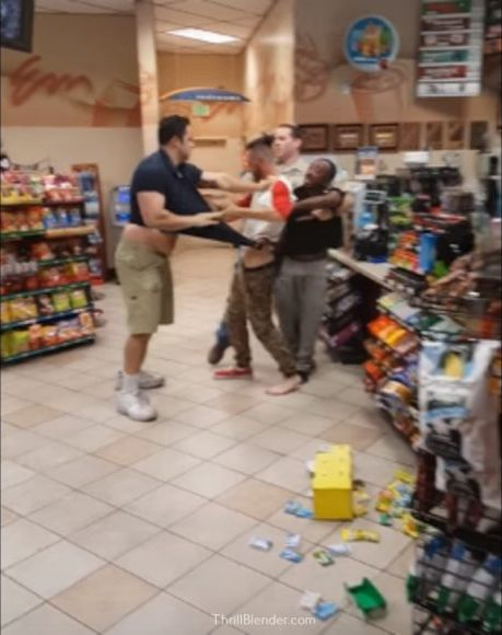 Cry Baby In Gas Station Fight