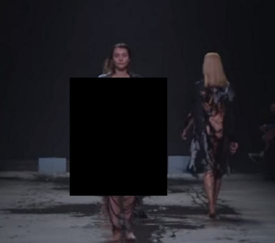 Woah This Is The Most Risqué Runway Walk