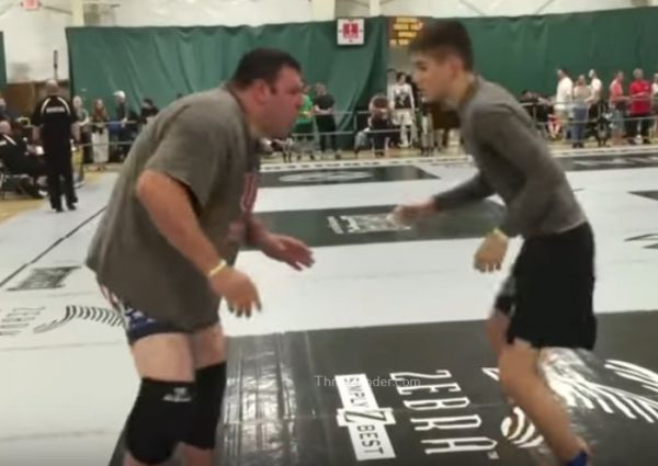 David Vs Goliath: 155lb Teen vs 340lb Wrestler!