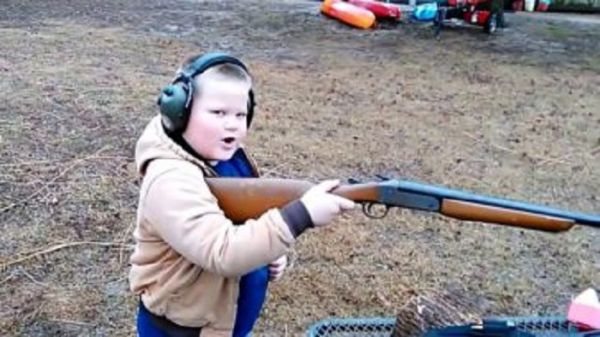 Watch This Kid Handle The Kickback After Firing New Shotgun