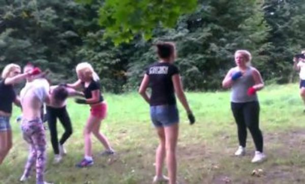 Woman Football Gangs Fight It Out!