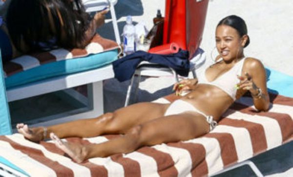Karrueche Tran Shows Off Her Petite Bikini Body In Miami