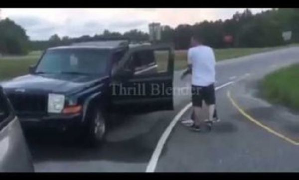 Guy Pulls A Gun On An Agressive Driver Following Them
