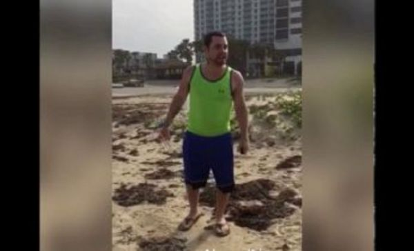 Racist Man Filmed Berating Family At A Texas Beach