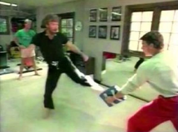 Rare Footage Shows Van Damme And Chuck Norris Training Together