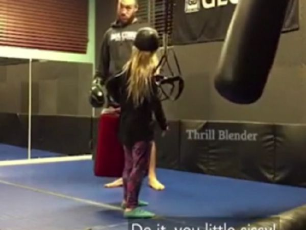 "Cocky Little Girl Wants A Real Kick From ""Sissy"""