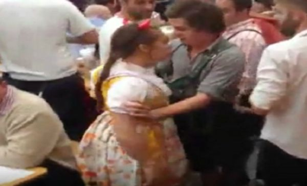 Drunk Woman At Oktoberfest Goes On Rampage
