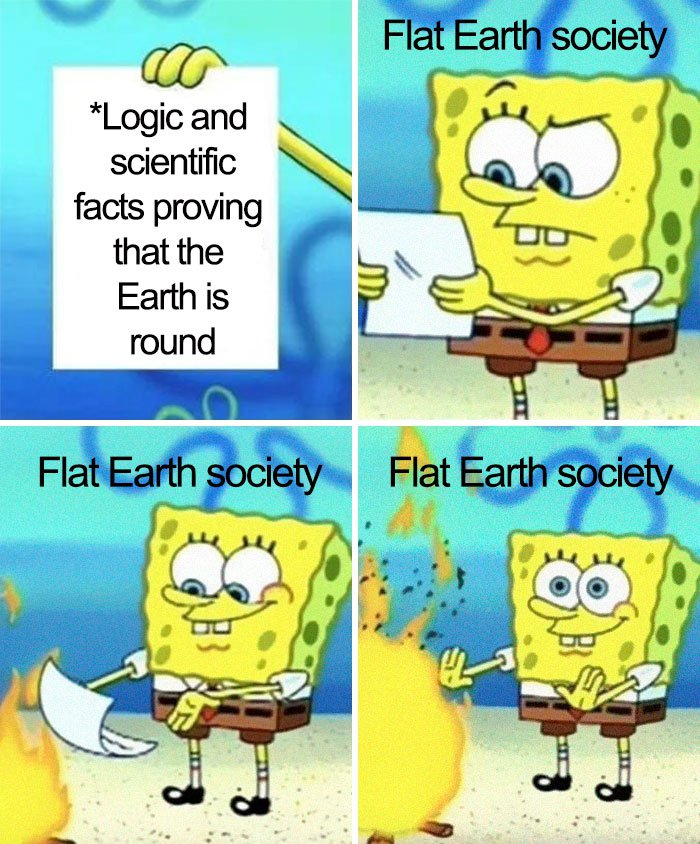 People Are Trolling Flat-Earthers With Hilarious Memes (37 pics)