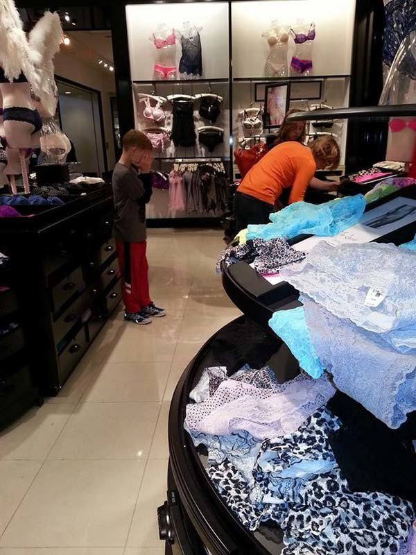 Kids Hate Shopping (25 pics)