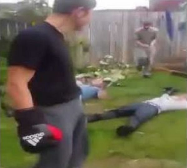 3 Man Backyard Boxing Doesn't End Well For One Man