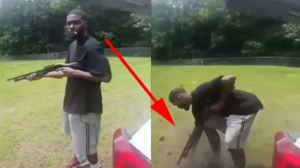 Shotgun Fail, Guy Almost Loses Foot!?!