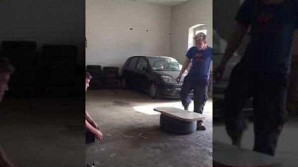 Sent Flying By Inflatable Tire  (Video)