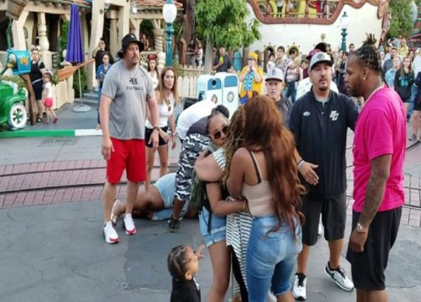 Disney Family Fun Turns Into All Out Brawl  (Video)