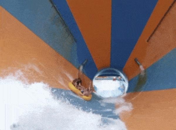 Fun On Waterslide (17 gifs)