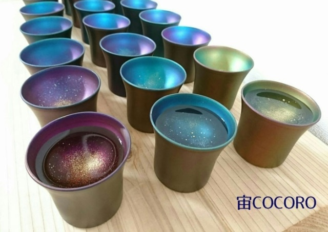 Clever Design Turns Ordinary Cups Into Liquid Galaxies When Something Is Poured Into Them (11 pics)