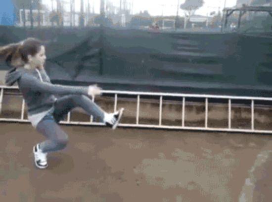 People Falling (17 GIFs)
