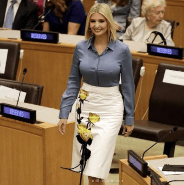 Ivanka's HeadBeams Were On Full Blast At The United Nations  (Pics)